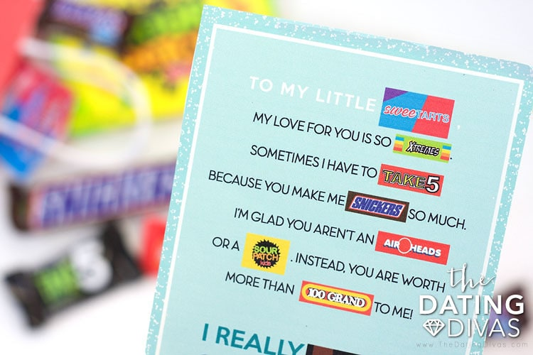 Candy Gram Card for Your Kids
