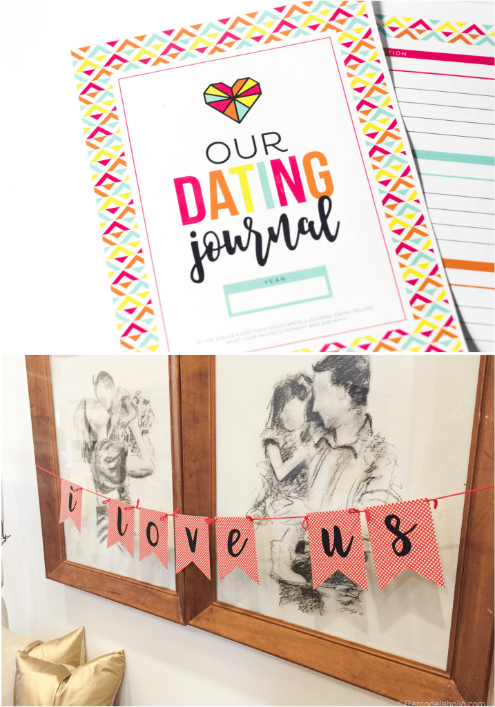 Valentine's Day Date Night Printable Set And Bunting