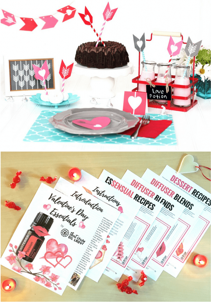 Valentine's Day Dinner Printables and Essential Oil Recipes