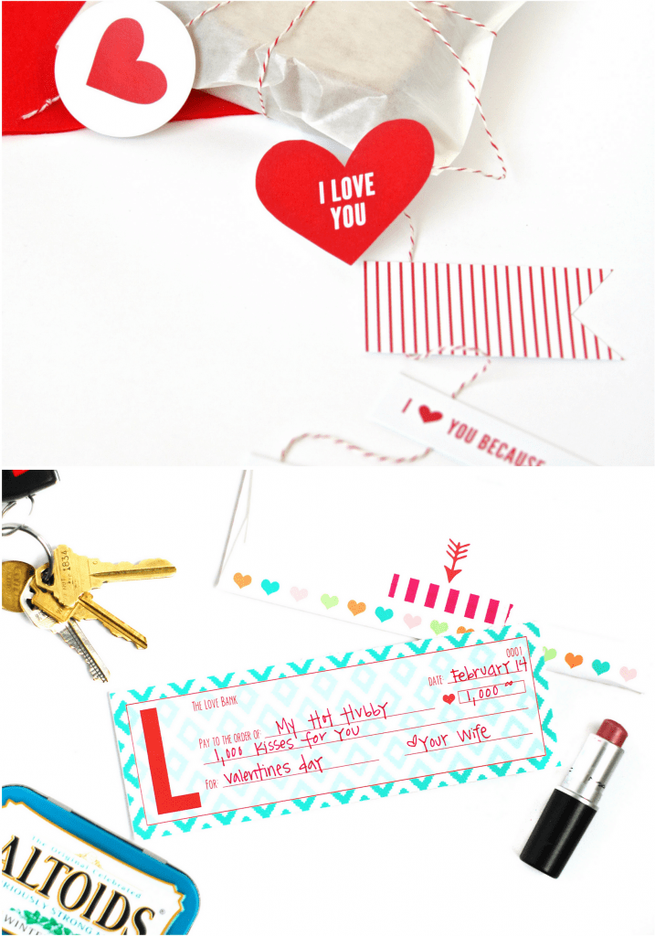Valentine's Day Lunch and Printable Love Checks