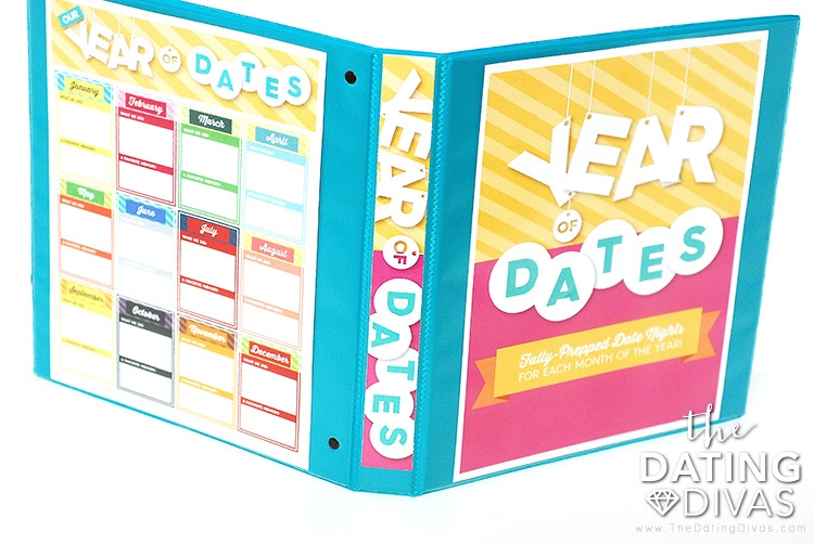 Year of Dates Binder Example