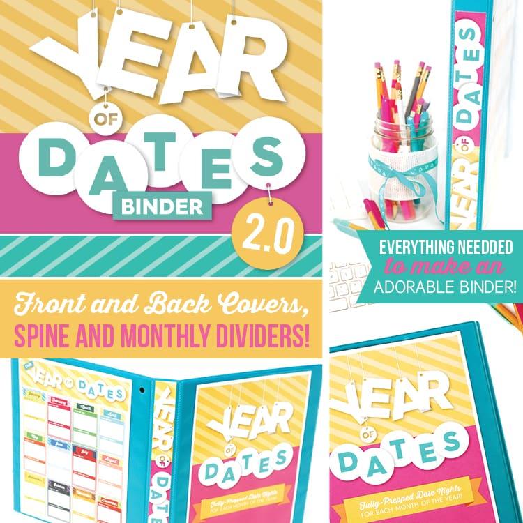 Year of Date Binder Printables