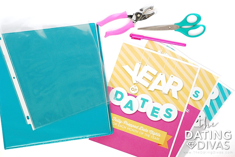 Year of Dates Binder Supplies