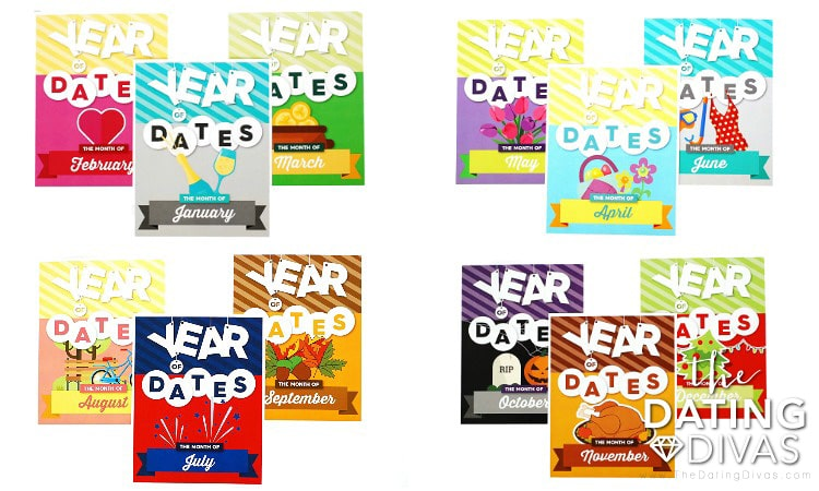 Year of Dates Monthly Dividers
