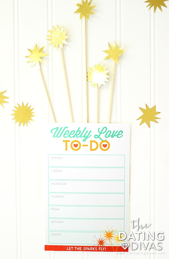 Weekly To-Do List for how to rekindle a relationship