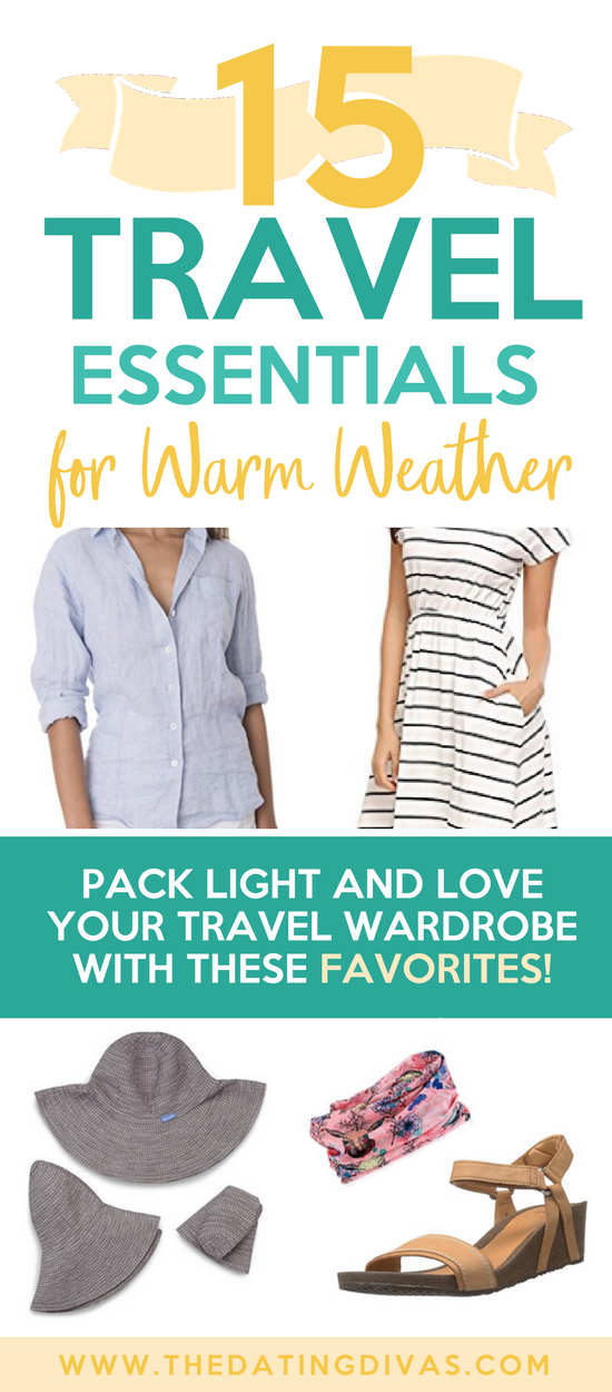 Packing List for Warm Climates