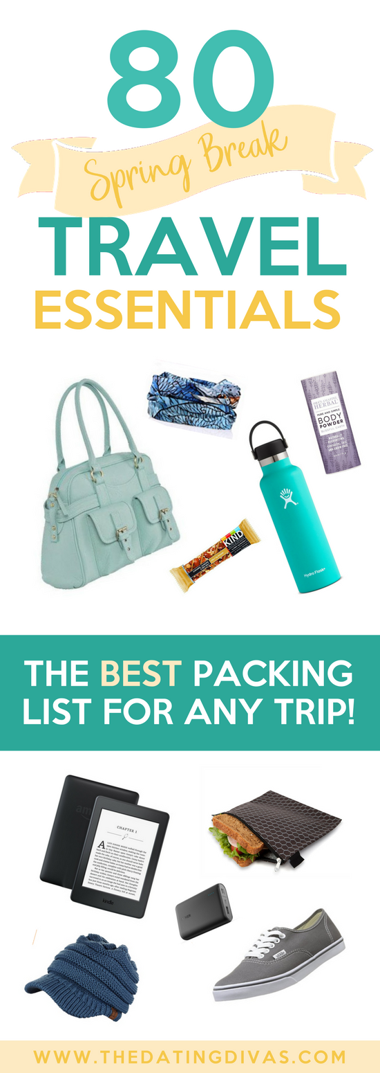 The Best Packing List for Any Trip - Our Favorite Travel Essentials #travelessentials #packinglist