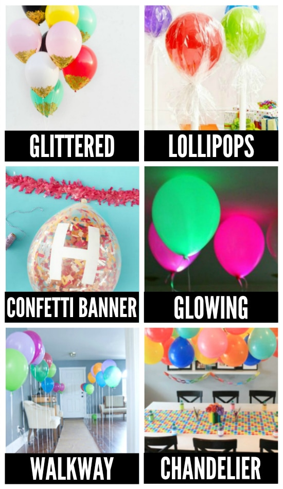 Fun Birthday Balloons ideas collage