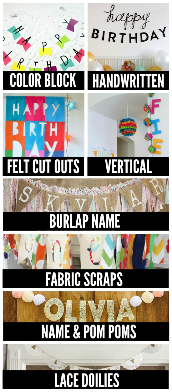 birthday party banner ideas