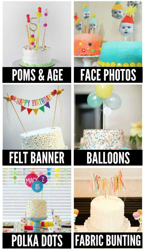 birthday cake topper ideas