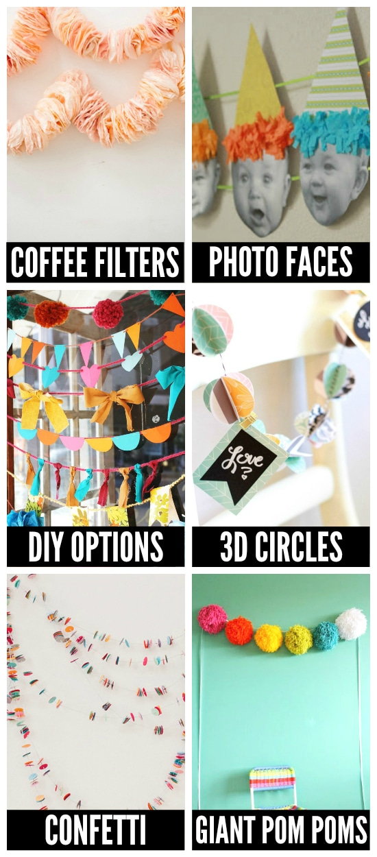 Fun Birthday Party Garland Ideas