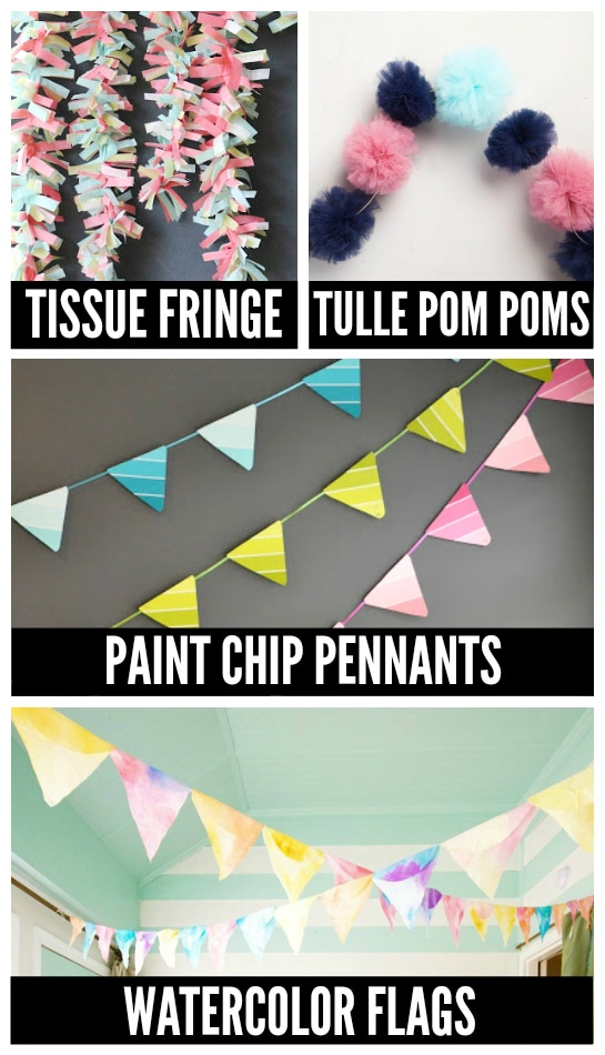 Birthday Party DIY Garland ideas