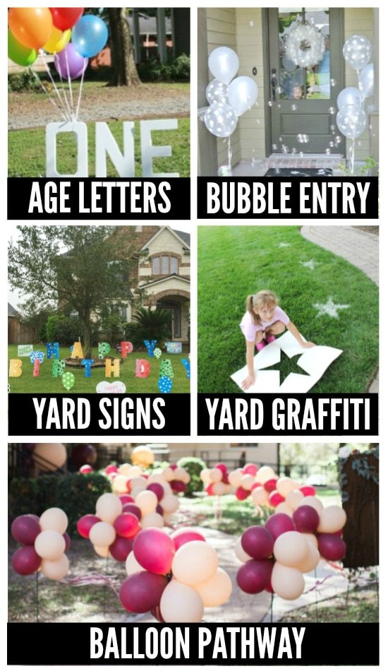 birthday decoration ideas for your yard