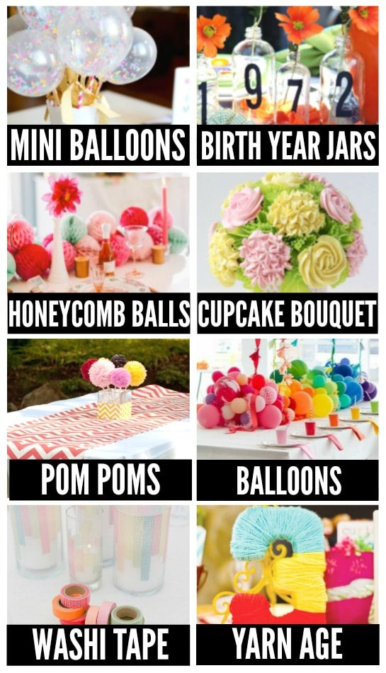 Centerpieces for Birthday Parties