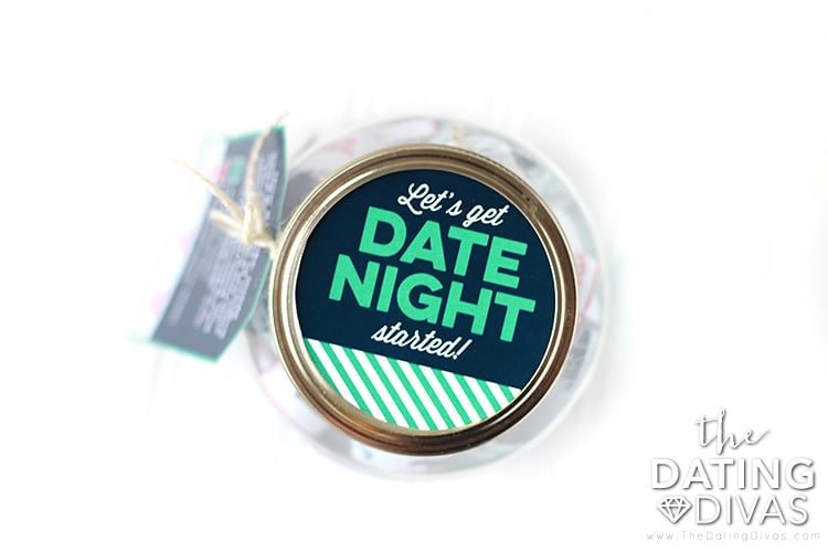 graphic about Date Night Jar Printable named Get hold of Our Day Night time Jar Printables The Relationship Divas
