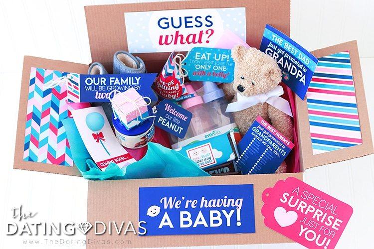 pregnancy announcement surprise box the dating divas