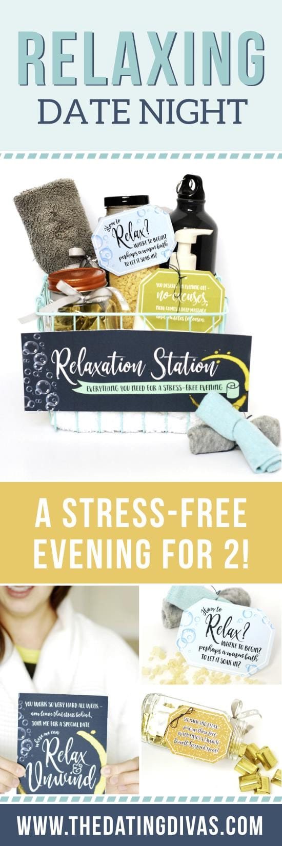 Check out these fabulous relaxing date ideas to help put your spouse at ease after a stressful week! #TheDatingDiva #AtHomeDates #RelaxationStation
