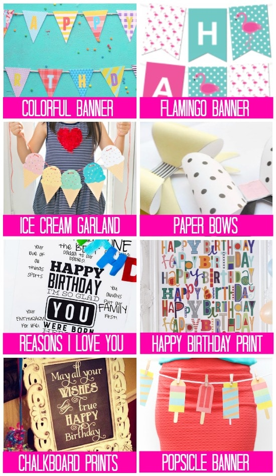 picture relating to Free Birthday Banner Printable called 101 Free of charge Birthday Printables - The Relationship Divas