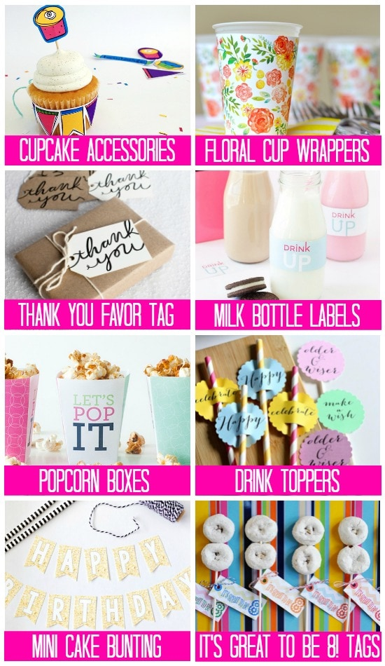 photograph regarding Free Printable Birthday Decorations called 101 Free of charge Birthday Printables - The Courting Divas