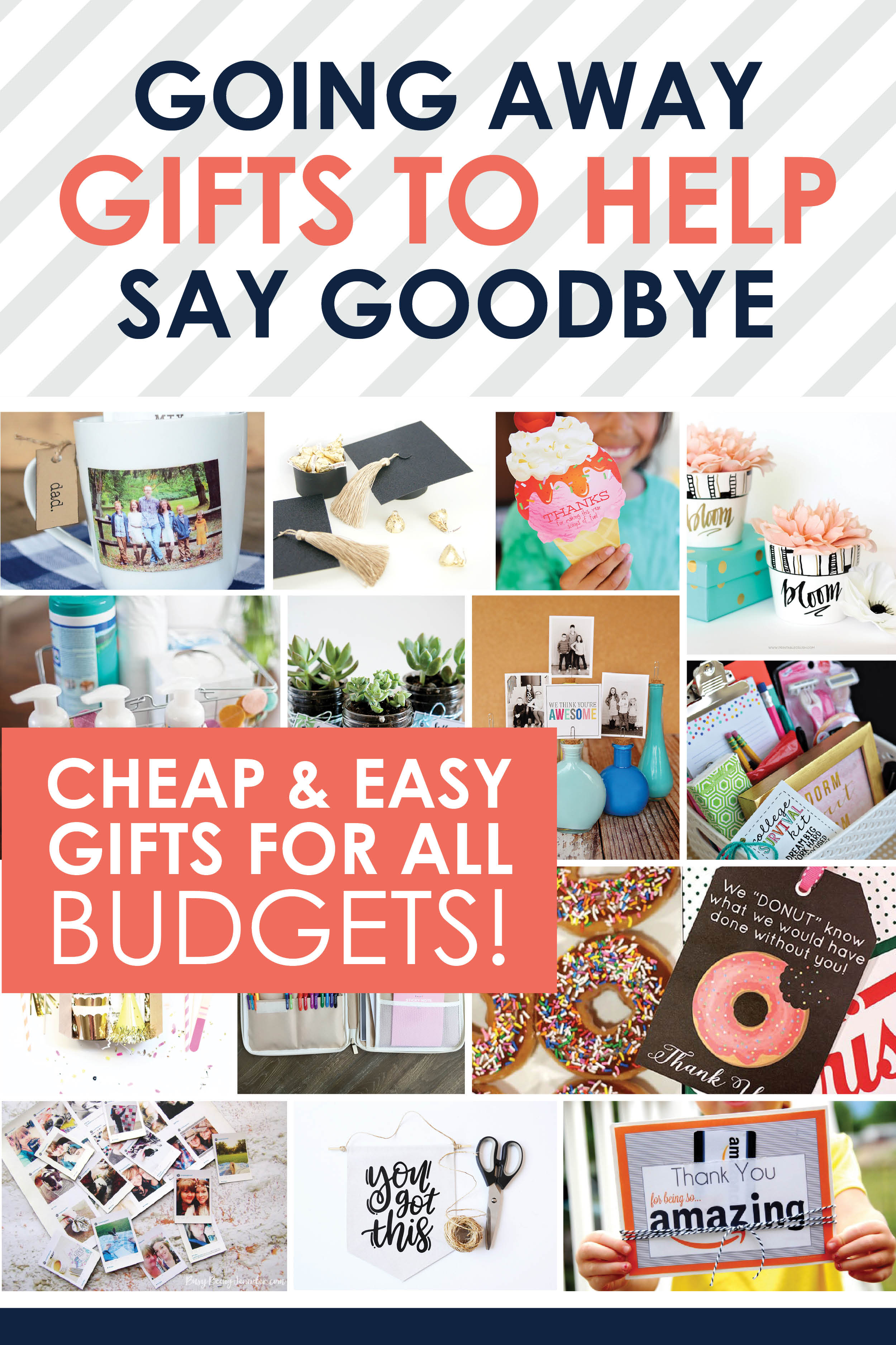 Aww I love these ideas!! The best inexpensive, quick and easy going away gifts to say goodbye to anyone! #GoingAwayGifts #GoodbyeGifts #TheDatingDivas