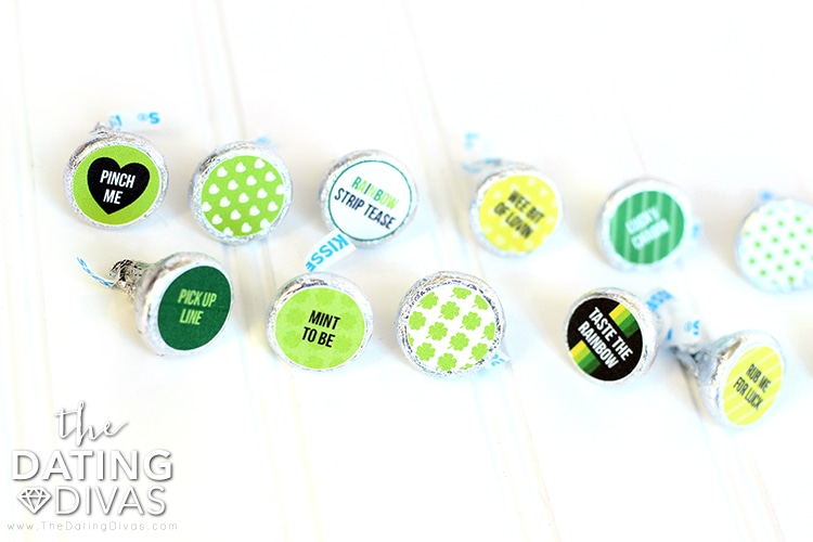 Lucky Leprechaun Kiss Stickers