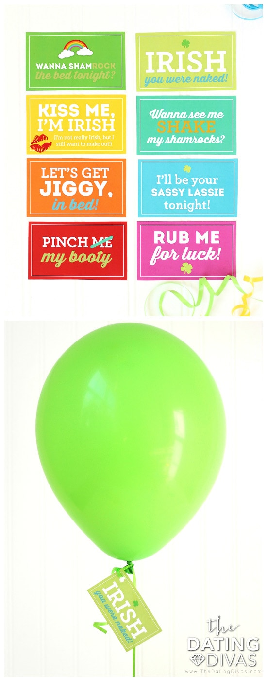 Sexy Notes for a Spouse: St. Patrick's Day Balloon Surprise