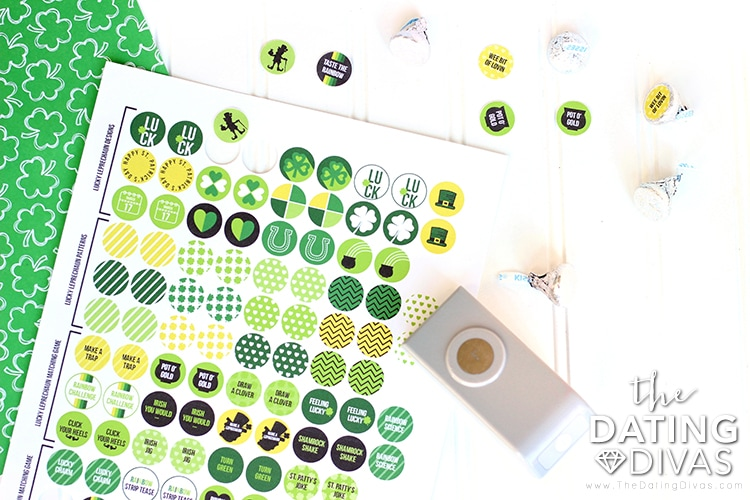 St. Patrick's Day Matching Game Stickers