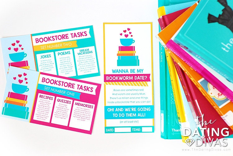 Bookstore Date Idea Printables