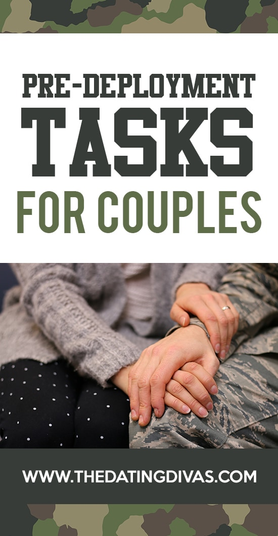 Pre-deployment ideas and tasks for couples.