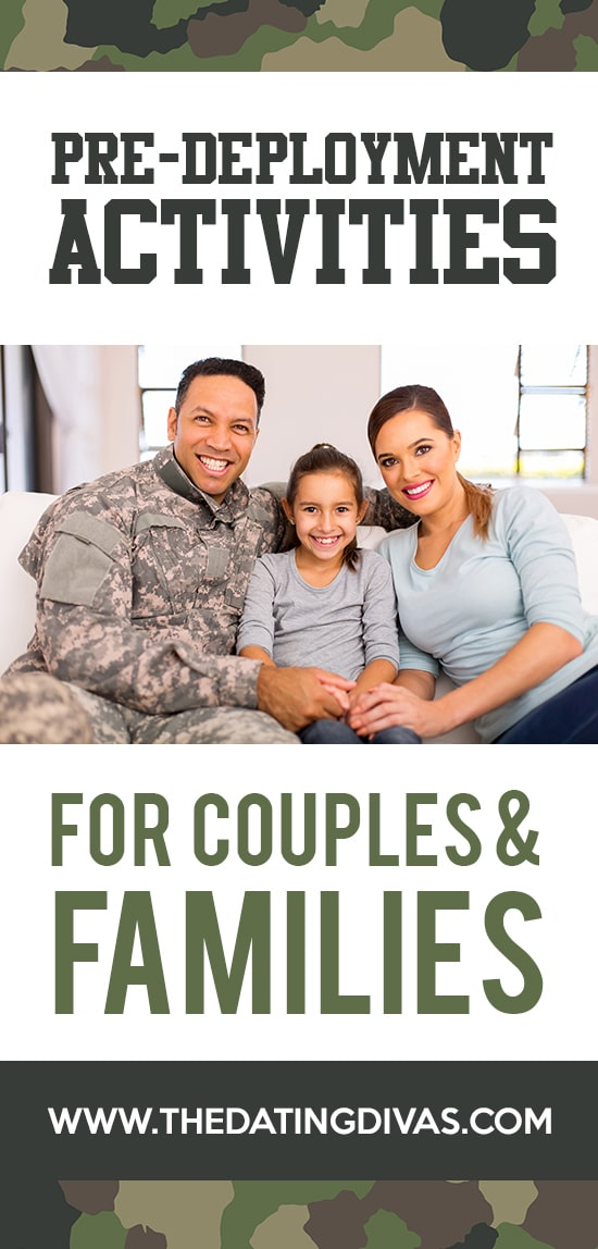 Pre-deployment ideas for couples and families.