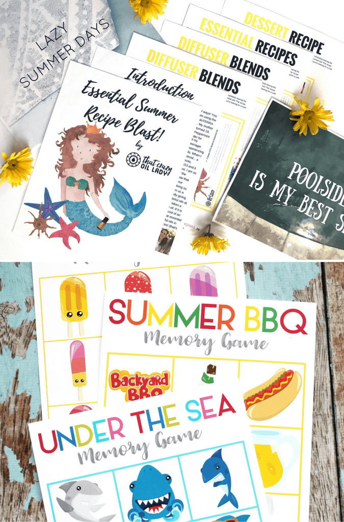 Printable Summer Recipes and Games