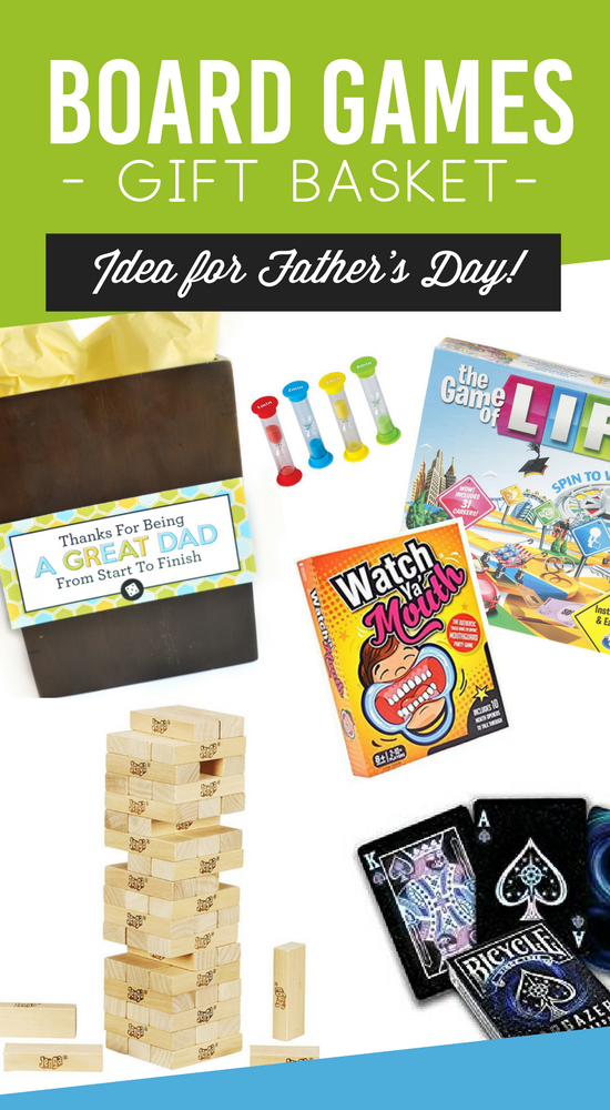 Father's Day Board Games Gift Basket