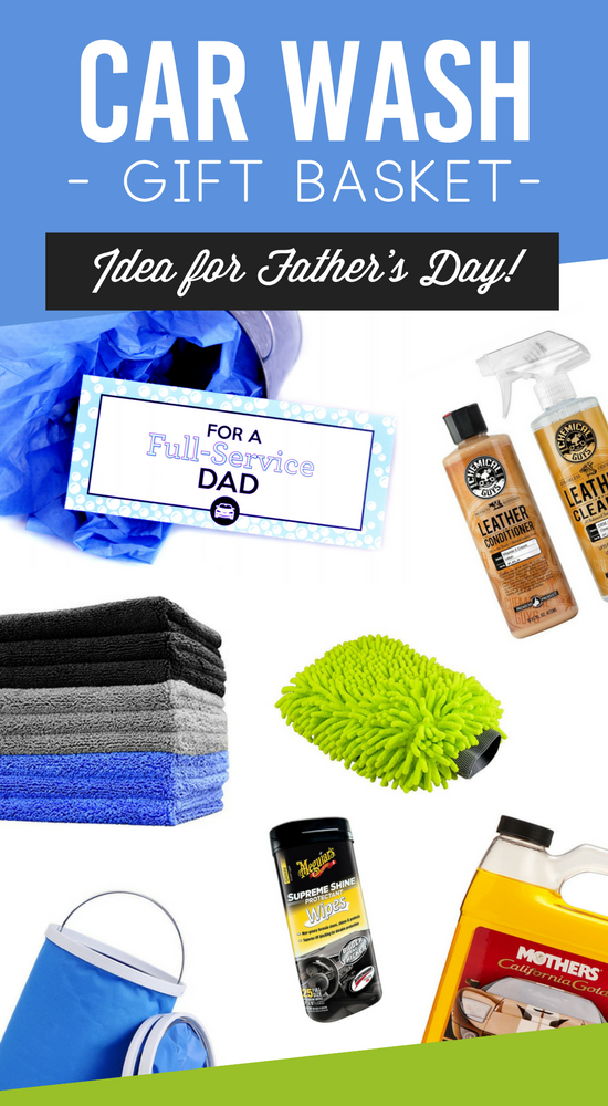Father's Day Car Wash Gift Basket