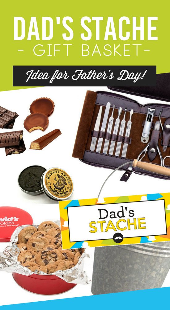Father's Day Mustache Gift Basket