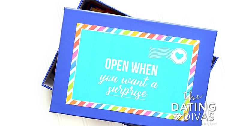 Open When Box Label