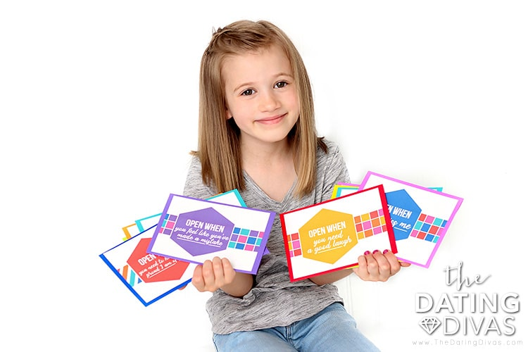 Open When Holding Letters For Kids