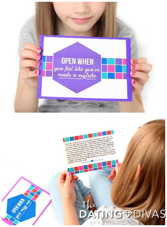 Reading Open When Letters