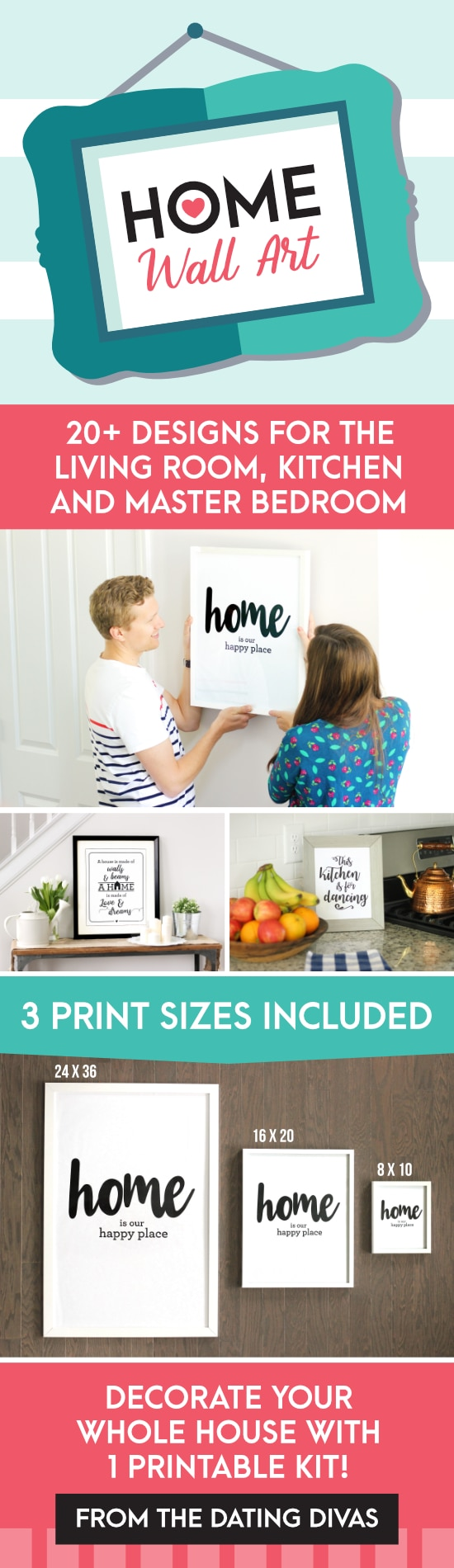 Printable Wall Art for different rooms in your home!