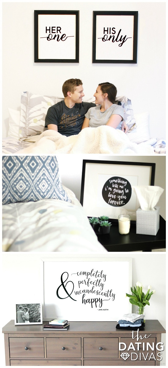 Printable Wall Art for the Master Bedroom