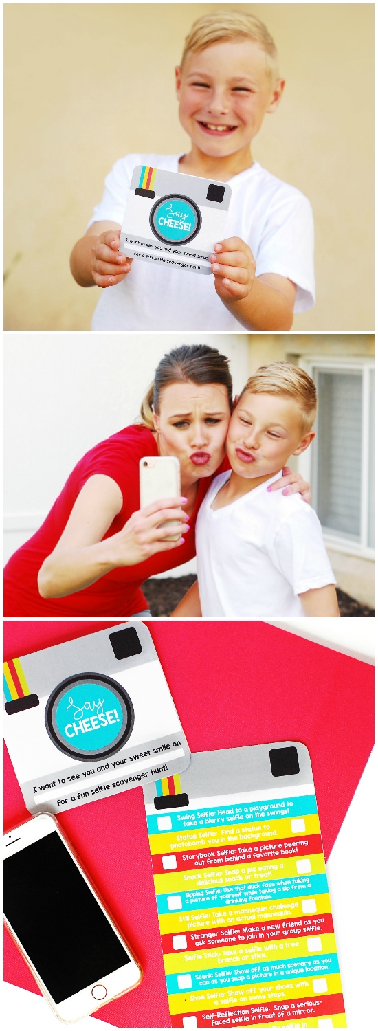 Selfie Scavenger Hunt Kid Date Ideas