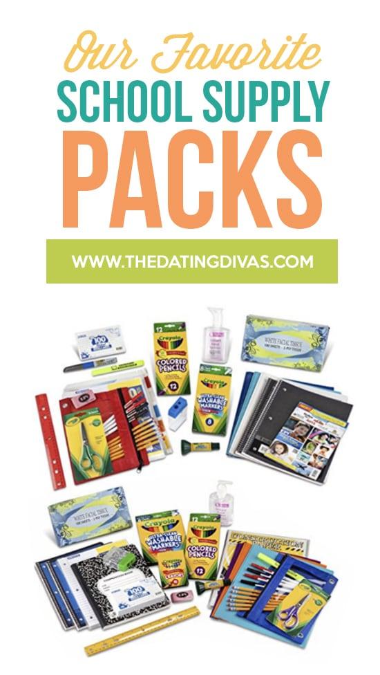 Favorite School Supply Packs