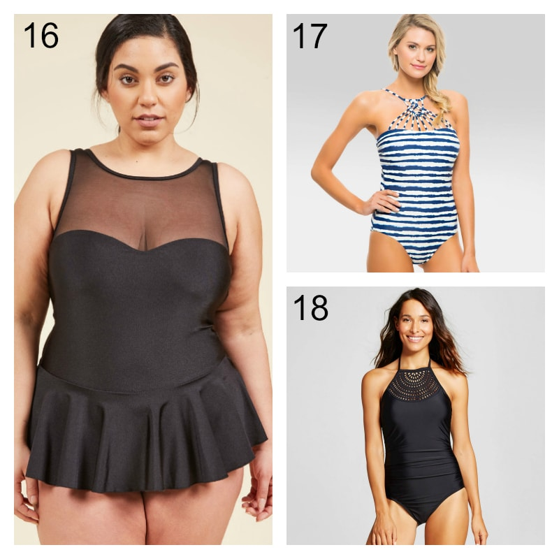 High Neck Swimming Suits