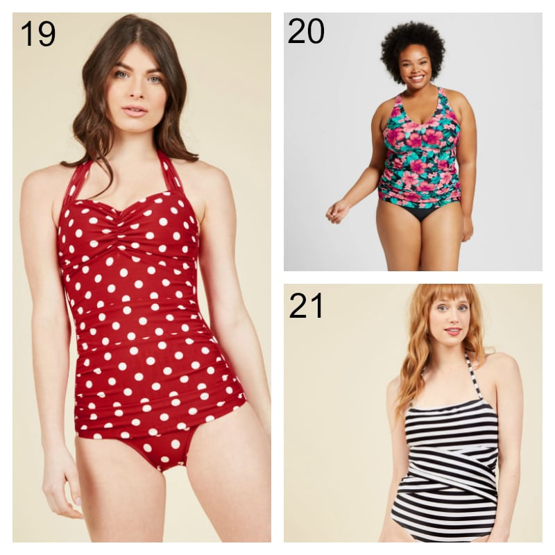 Patterned Swimming Suits