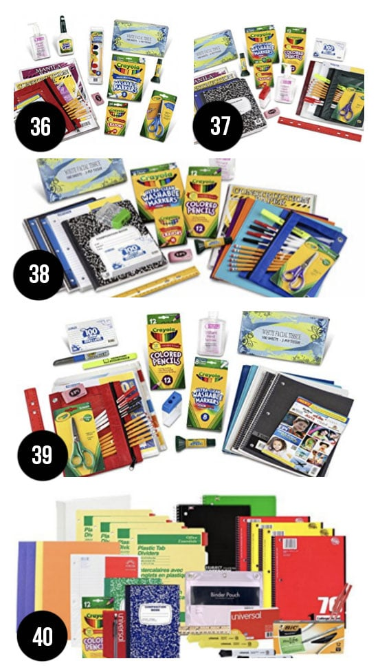 Best Back to School Supply Packs