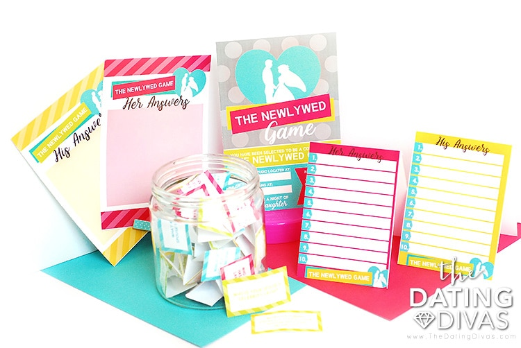 Variety of printables to use to play The Newlywed Game. | The Dating Divas