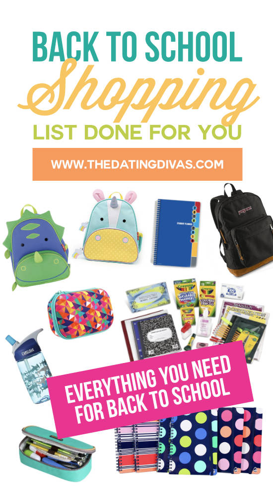 Your one-stop shop for Back to School Shopping for all of your kids! We found backpacks, binders, pencil cases, and so much more! #BacktoSchool #TheDatingDivas