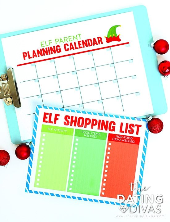 Elf on the Shelf Parent Planners