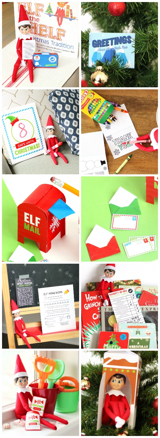 graphic regarding Elf on the Shelf Printable Props identified as Elf upon the Shelf Printables Package - Suggestions and Props Against The