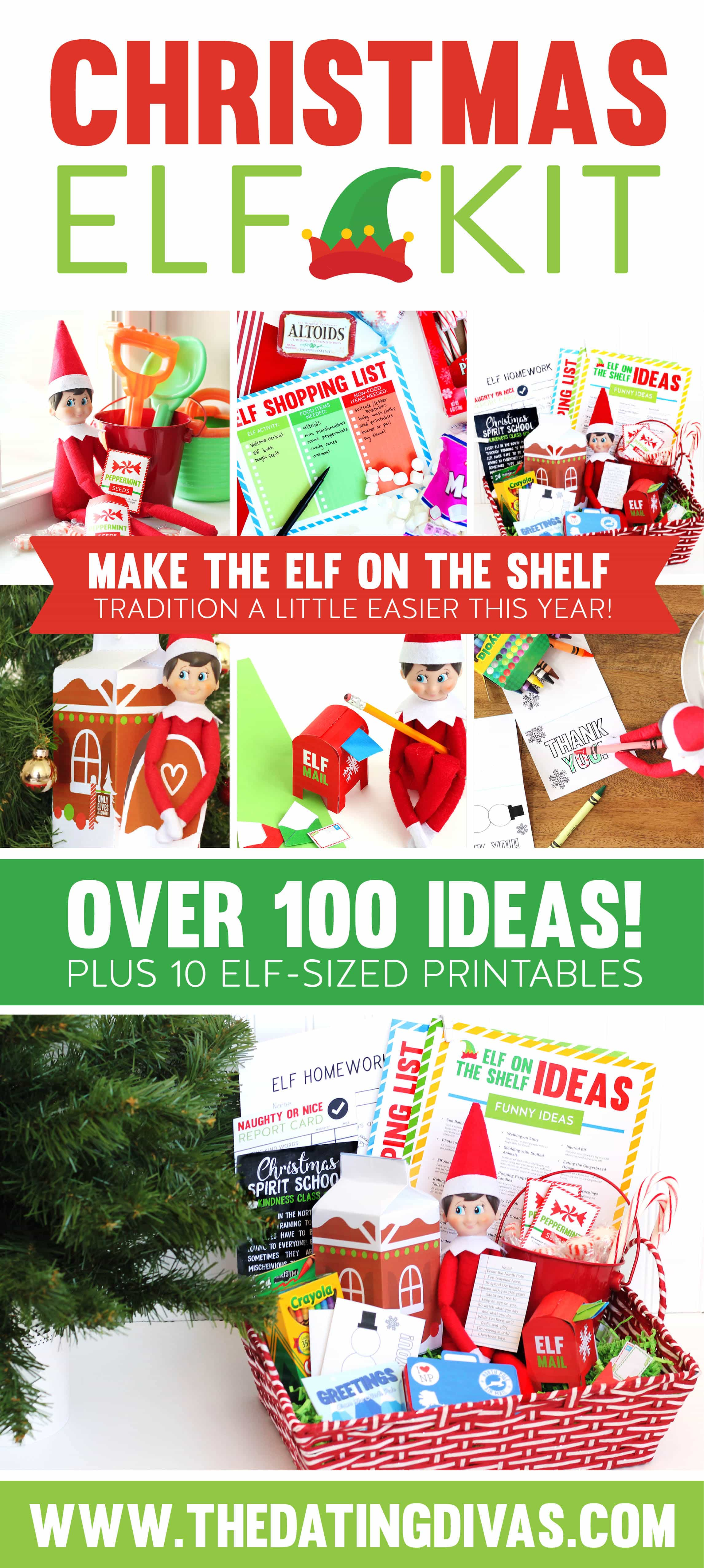 Elf on the Shelf printables to make this year's tradition a BREEZE! #TheDatingDivas #ElfOnTheShelf