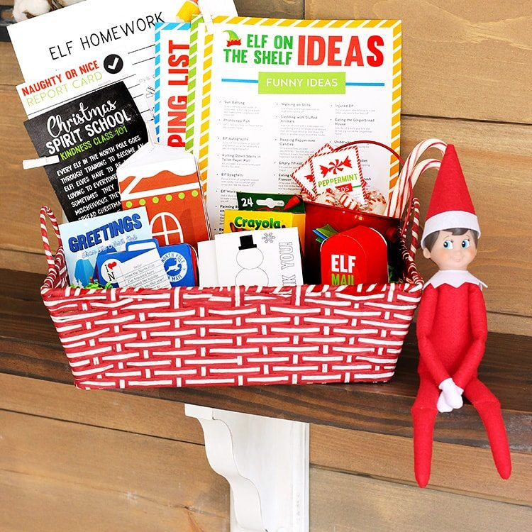 image about Elf on the Shelf Printable Props known as Elf upon the Shelf Printables Package - Programs and Props Versus The